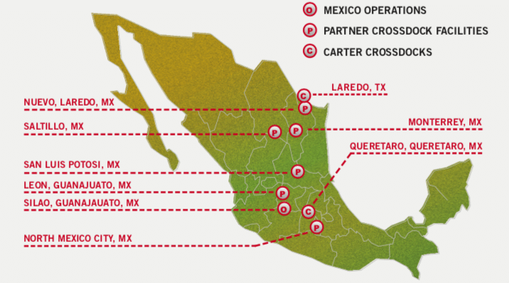 CARTER EXPRESS SPANS NORTH AMERICA